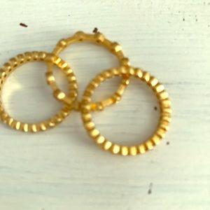 Stella & Dot three gold rings